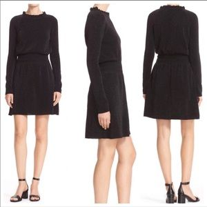 Tory Burch | Isabelle Black Sparkle Dress S